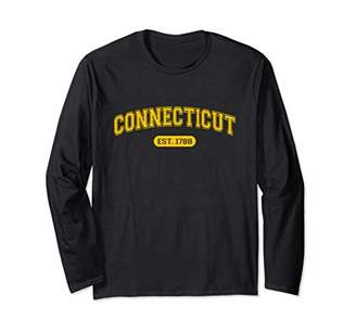 Connecticut 1788 Retro School-font Long Sleeve T-Shirt