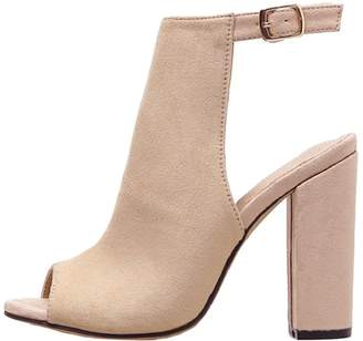 Goodnight Macaroon 'Ariana' Peep Toe Block Heel Cut Out Boots
