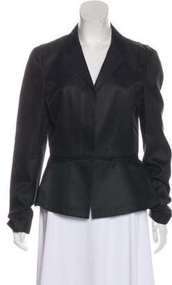 Narciso Rodriguez Mesh-Accented Notch-Lapel Blazer