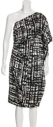 St. John Silk One-Shoulder Dress