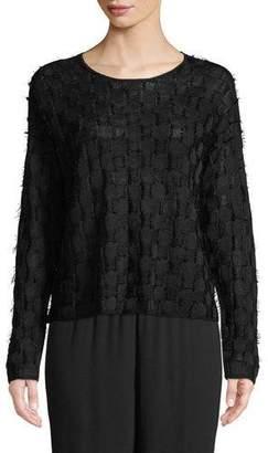 Eileen Fisher Sheer Hemp Eyelash Sweater
