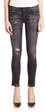 R 13 Alison Distressed Cropped Jeans