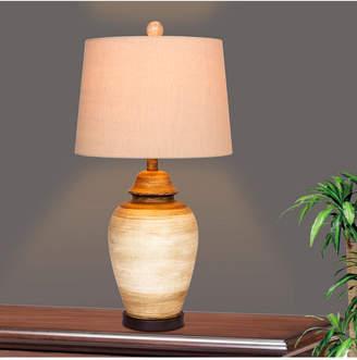 """Fangio Lighting 6255BEG 27.5"""" Resin Ginger Jar Table Lamp"""