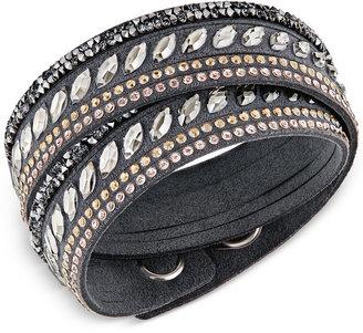 Swarovski Stainless Steel Slake Pulse Crystal Wrap Bracelet $69 thestylecure.com