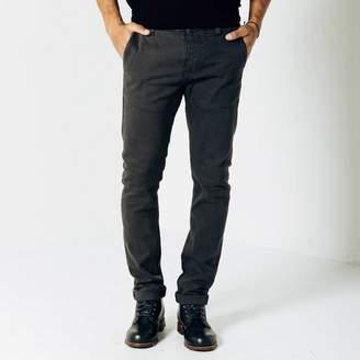 DSTLD Mens Skinny-Slim Selvedge Chino Pant in Charcoal