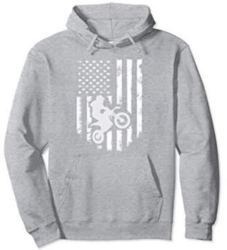 American Flag Motorcross Hoodie Cool Dirt Bike Jacket Gift