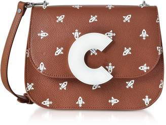 Coccinelle Craquante Razzo Printed Leather Shoulder Bag