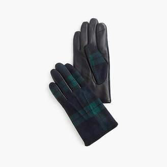 J.Crew Ludlow leather Black Watch gloves