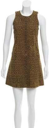 Saint Laurent Cheetah Leather Dress