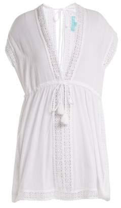 Melissa Odabash Jennifer Lace Trimmed Cotton Dress - Womens - White