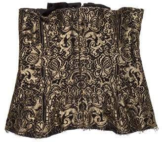 Peter Soronen Metallic Lace Corset