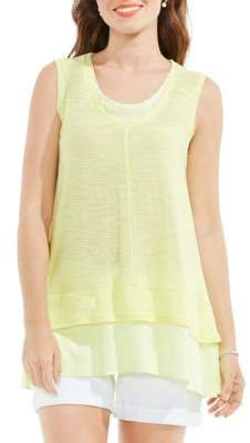Vince Camuto Double Layered Knit Tank