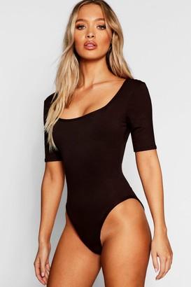 boohoo Basic Square Neck Short Sleeve Bodysuit