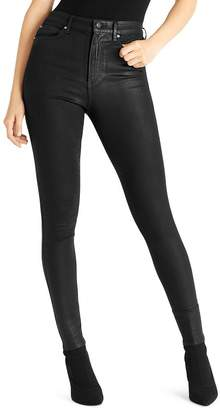 Ella Moss Super-Sleek Coated Skinny Ankle Jeans