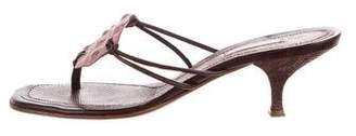 Alaia Caiman Crocodile Sandals