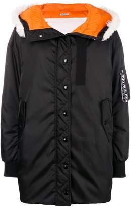 Miu Miu shearling trim coat