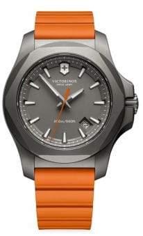 Victorinox Round Rubber Strap Analog Watch