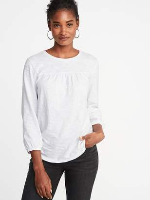 Old Navy Relaxed Shirred-Yoke Top for Women
