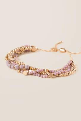 francesca's Prima Beaded Bracelet - Purple
