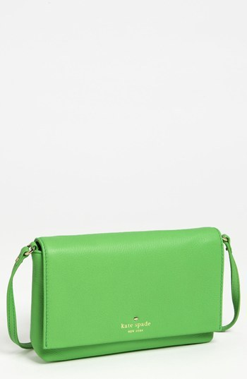 Kate Spade 'cobble hill - kristie' leather crossbody bag Shamrock