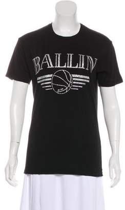 Brian Lichtenberg BLTEE Metallic Graphic Print T-Shirt