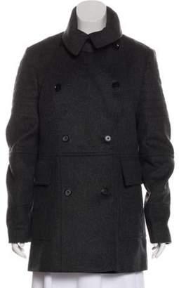 Belstaff Wool Double-Breasted Short Coat Grey Wool Double-Breasted Short Coat