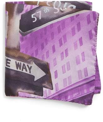 Eton New York Store Silk Pocket Square