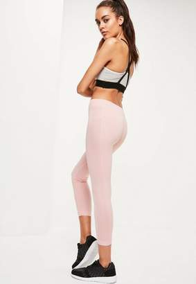 Missguided Active Pink Cropped Seamless Sports Leggings