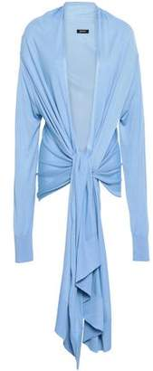 DKNY Tie-front Knitted Cardigan