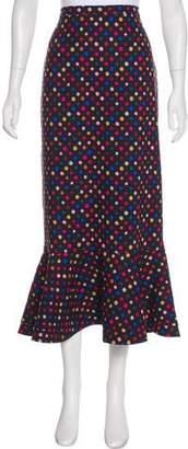 Saloni Polka Dot Midi Skirt w/ Tags