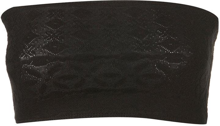 Black Textured Bandeau