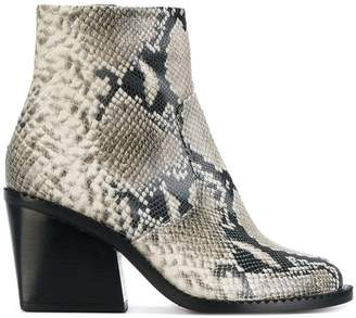 Clergerie snakeskin effect boots