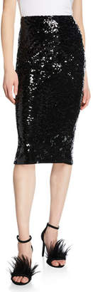 MICHAEL Michael Kors Fitted Sequin Pencil Skirt