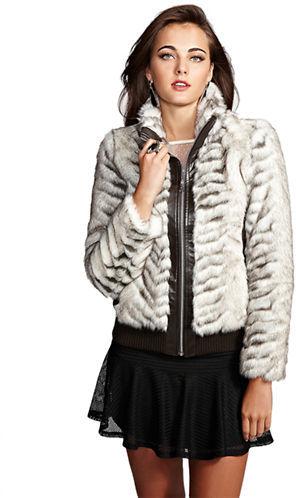 GUESS Melbourne Faux Fur Jacket