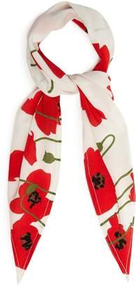 ROCKINS Poppy-print silk scarf