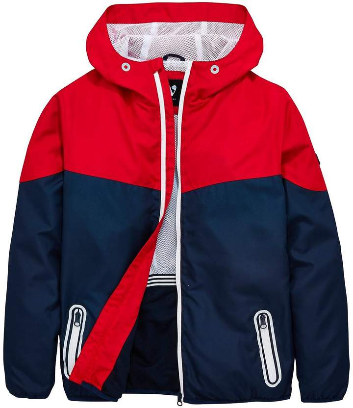Boys Colour Block Windcheater Jacket