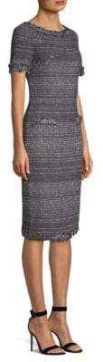 St. John Heathered Knit Sheath Dress