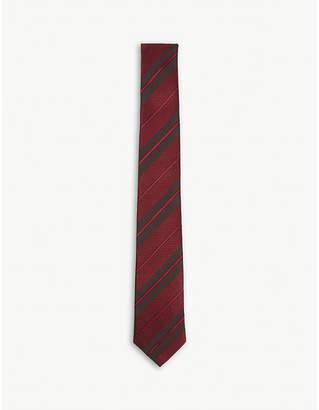 Burberry Diagonal-stripe silk tie