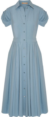 Michael Kors Collection - Pleated Cotton-blend Poplin Midi Dress - Sky blue $1,495 thestylecure.com