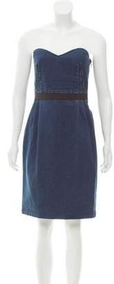 Lanvin x Acne Strapless Denim Dress