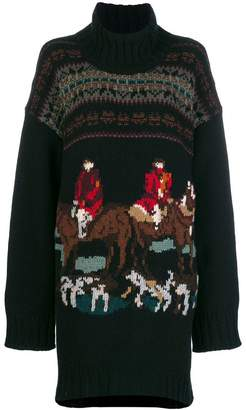 Antonio Marras hunting knit turtleneck sweater