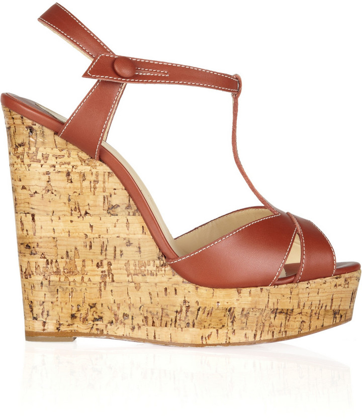 Christian Louboutin Marina Liege 140 leather wedge sandals