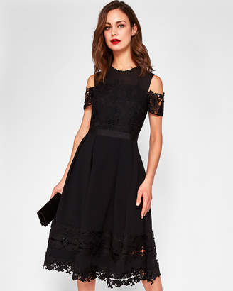 Ted Baker NACII Structured lace midi dress