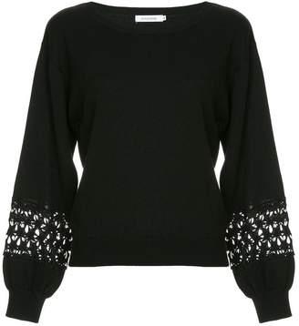 GUILD PRIME embellished sleeve sweater