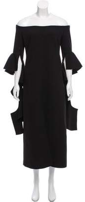 Ellery Raw-Edge Midi Dress