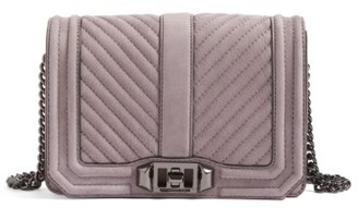 Rebecca Minkoff Small Love Nubuck Crossbody Bag - Purple $225 thestylecure.com