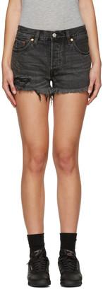 Levi's Black 501 Denim Shorts $60 thestylecure.com