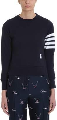 Thom Browne Navy Blue Cotton Sweatshirt