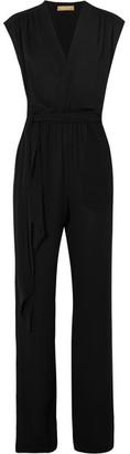 Michael Kors Collection - Wrap-effect Silk-georgette Jumpsuit - Black $1,995 thestylecure.com