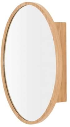 Penn Mirrored Wall Cabinet, Oak